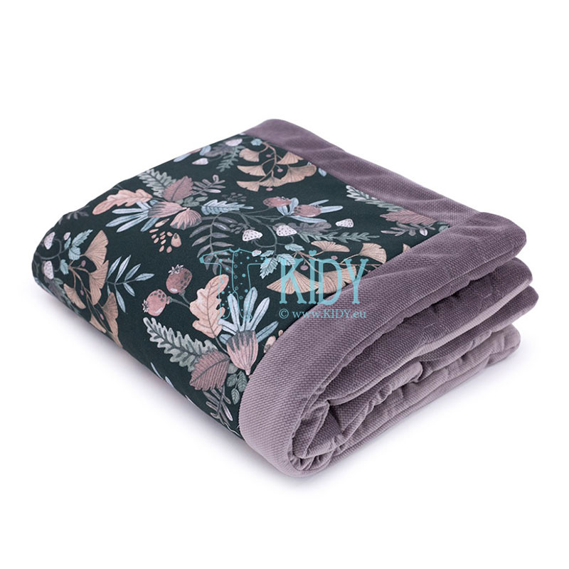 Black Secret Garden blanket
