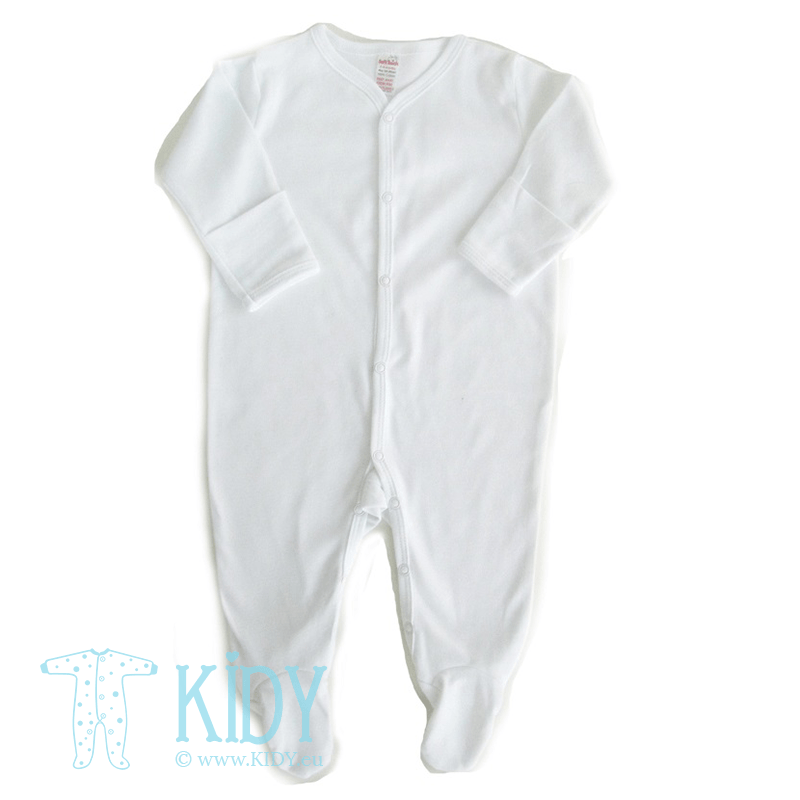 White sleepsuit PLAIN with mitts