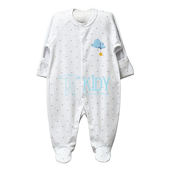 Baltas kombinezonas-pižama SNUBY
