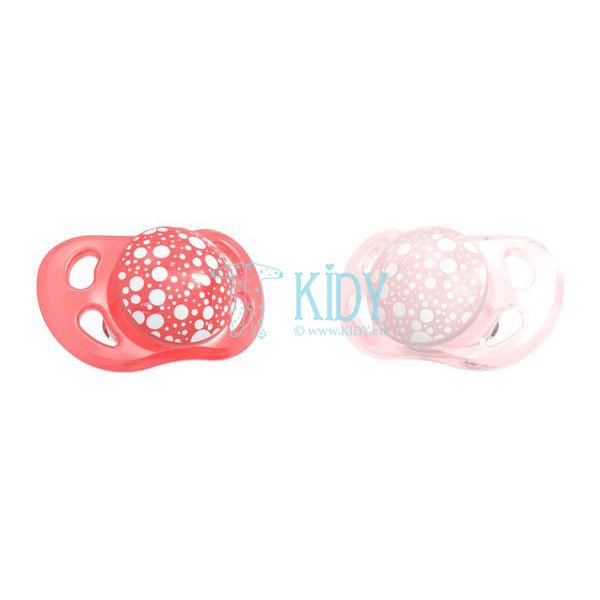 PEARL RED & PINK pacifiers