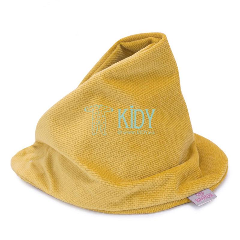 Двусторонняя бандана-шарф Musztarda горчичного цвета