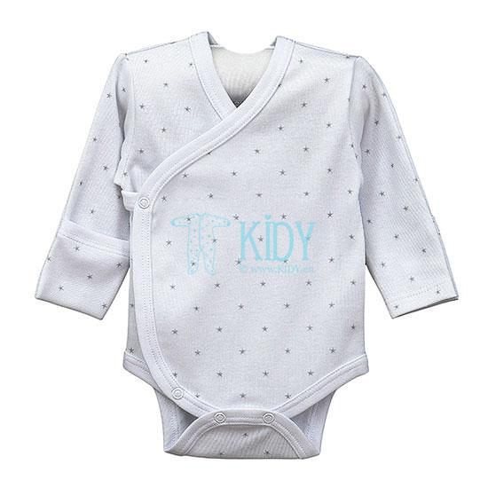 Белый боди-кимоно SNUBY