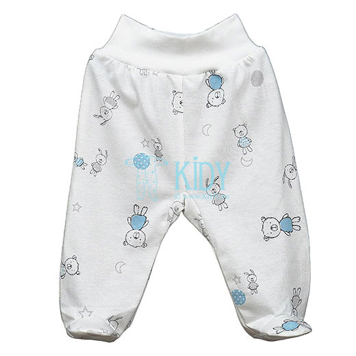White BEAR & BUNNY footed pants