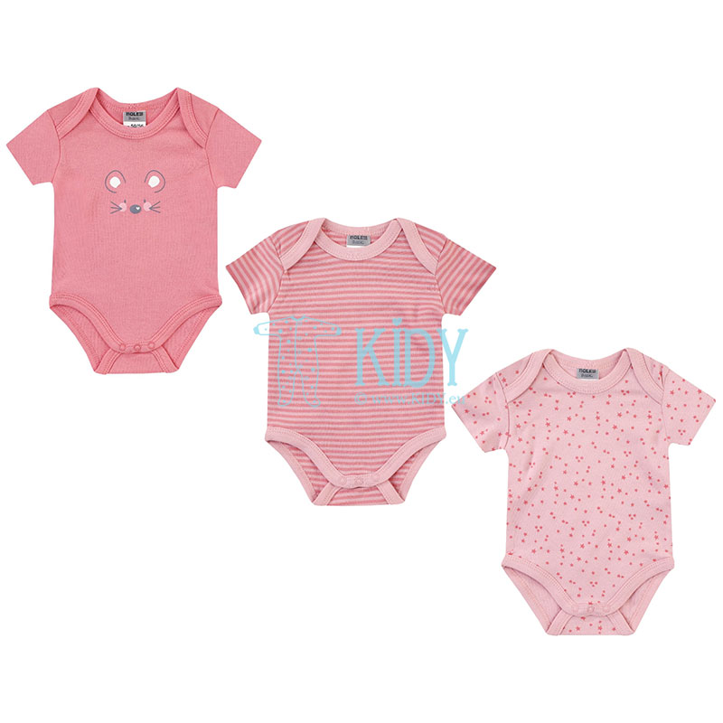 3pcs shortsleeved MOUSE bodysuit pack