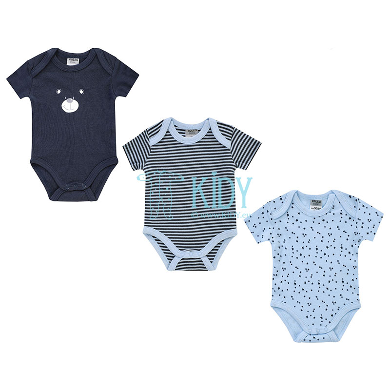 3pcs shortsleeved BEAR bodysuit pack (Jacky)
