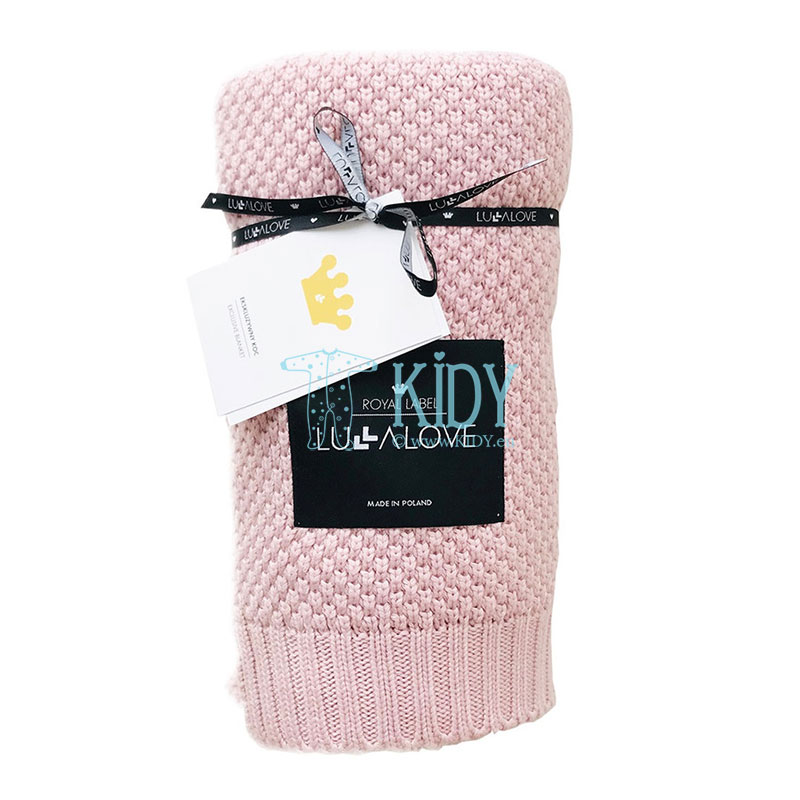 Pink knitted bamboo ROYAL LABEL plaid