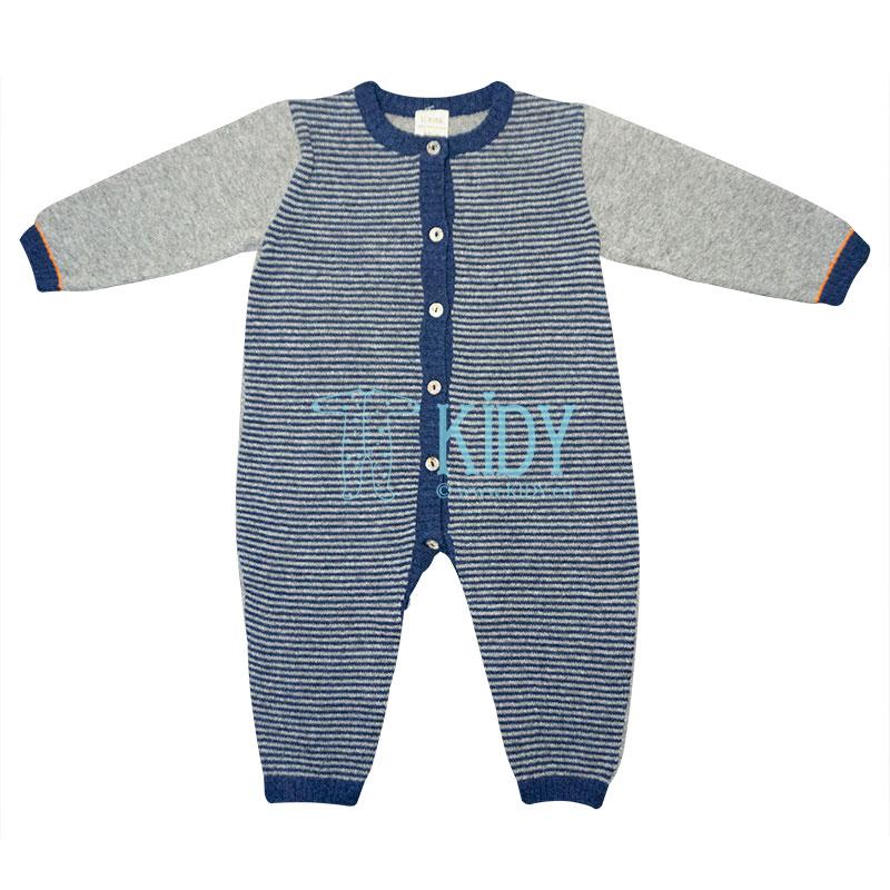Grey merino wool MERINO overall