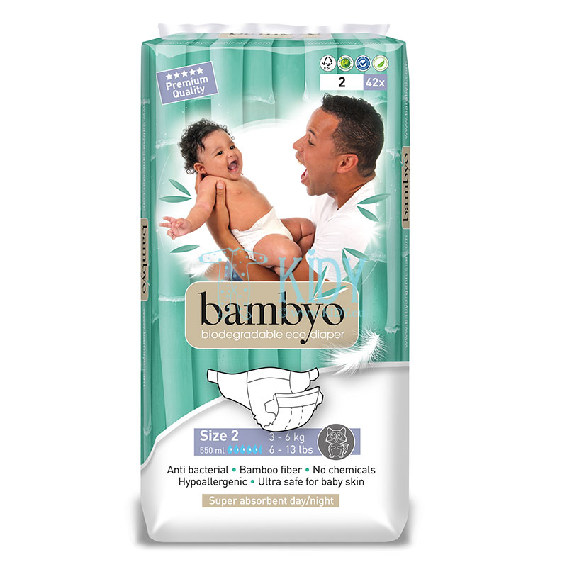 Bamboo BAMBYO №2 eco diapers for infants