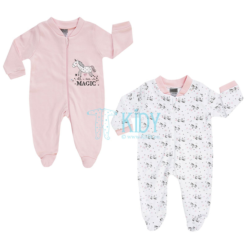 2 pcs ALL I SEE IS MAGIC sleepsuit pack