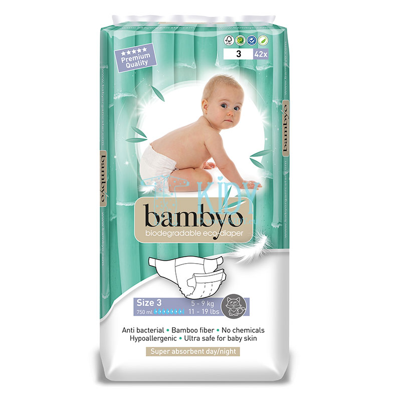 Bamboo BAMBYO №3 eco diapers for infants