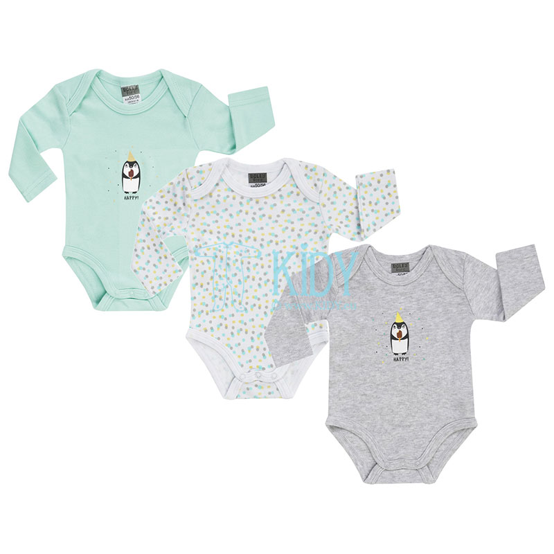 3 pcs HAPPY! bodysuits set