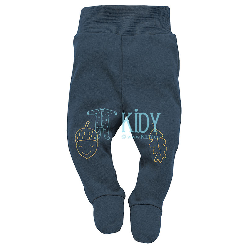 Navy SECRET FOREST footed pants
