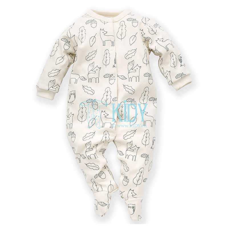 Ecru SECRET FOREST sleepsuit