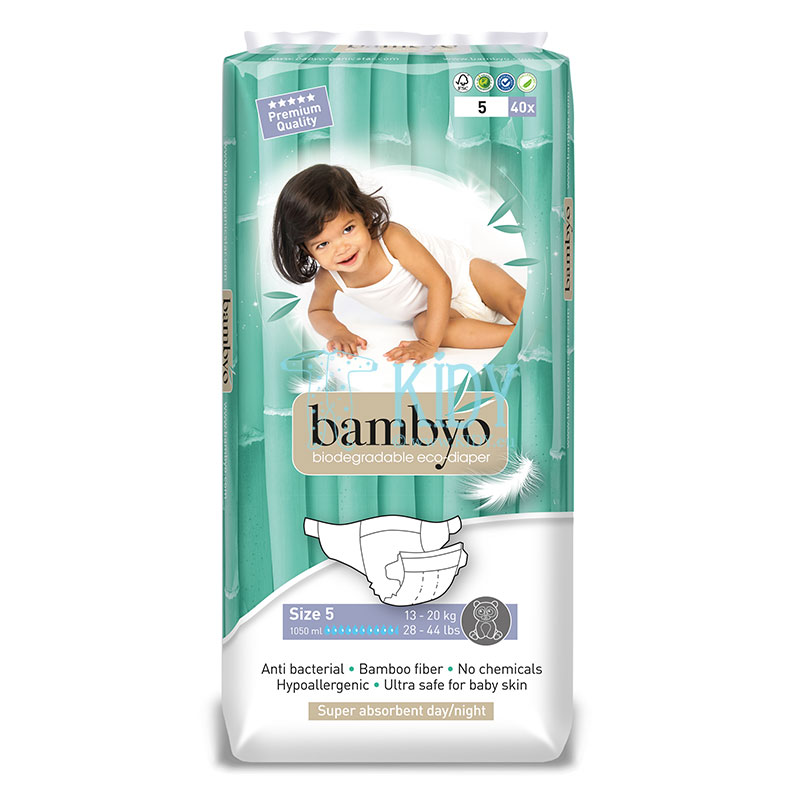 Bamboo BAMBYO №5 eco diapers for toddlers