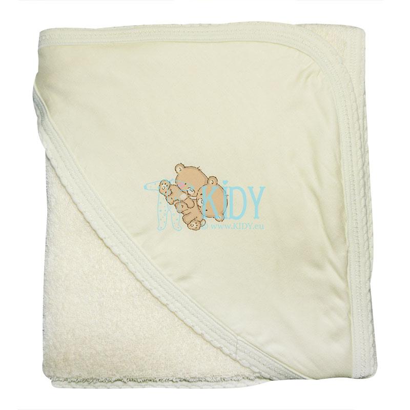 Kreminis rankšluostis su gobtuvu POPSI