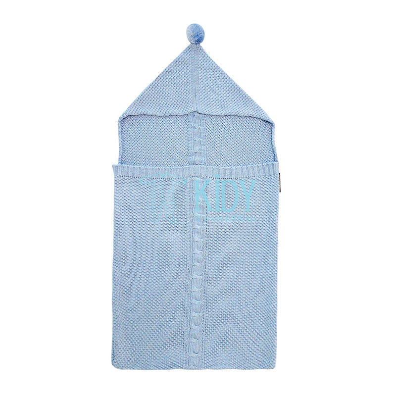 Blue knitted Lullavorek envelope