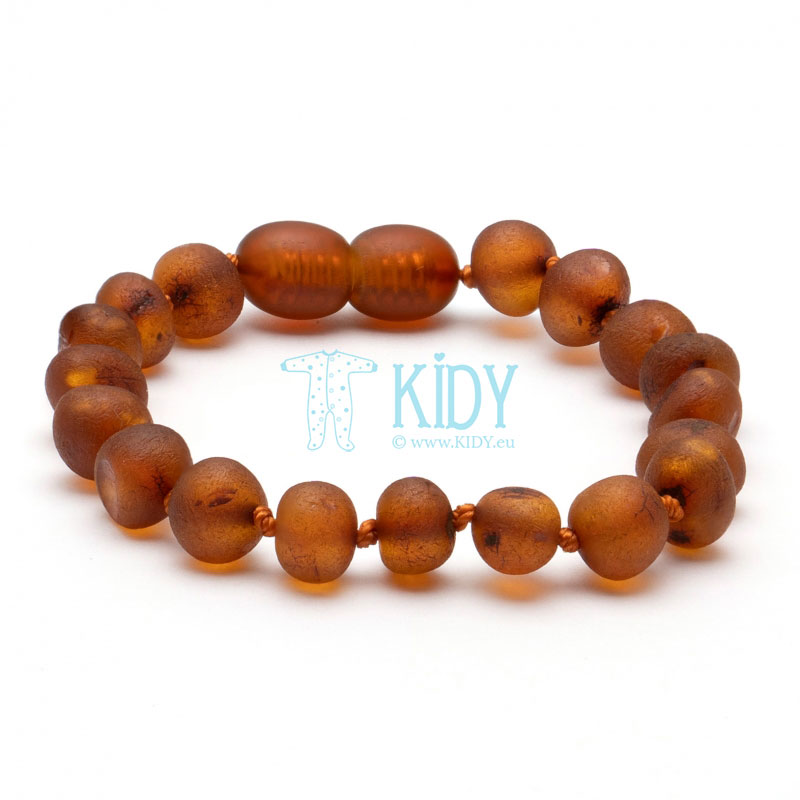 Amber COGNAC teething bracelet (Baltic Amber)