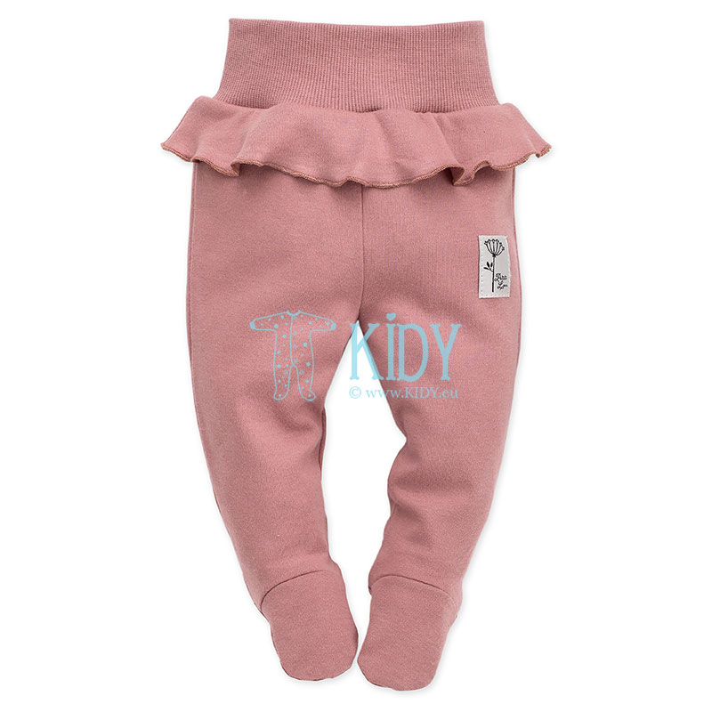 Pink PETIT LOU footed pants