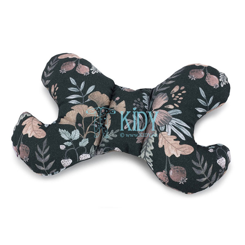 Black bamboo Secret Garden butterfly pillow