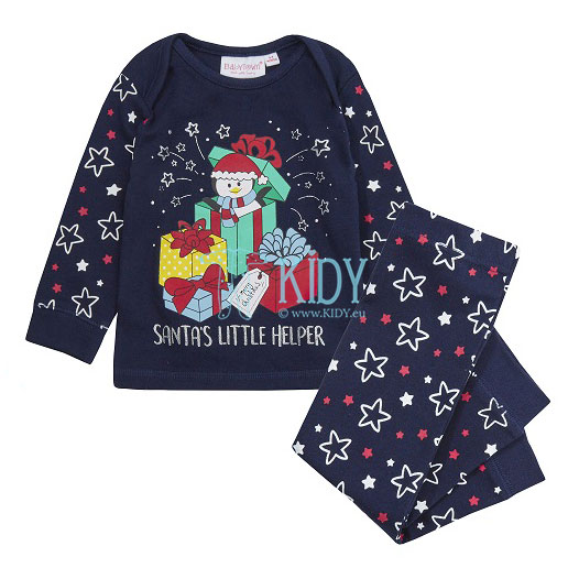 Navy SANTA'S LITTLE HELPER pyjama