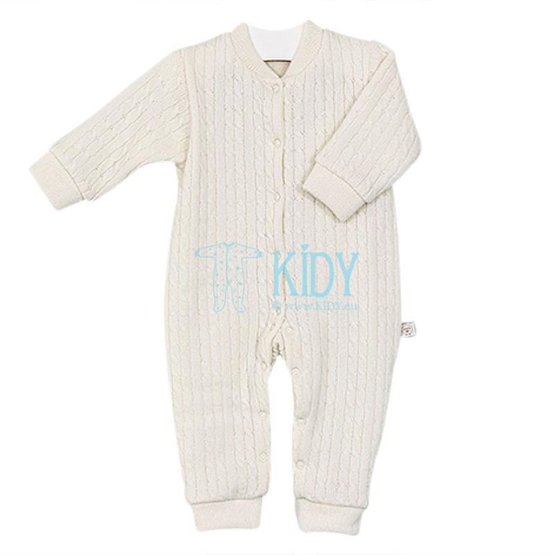 Creamy merino wool overall