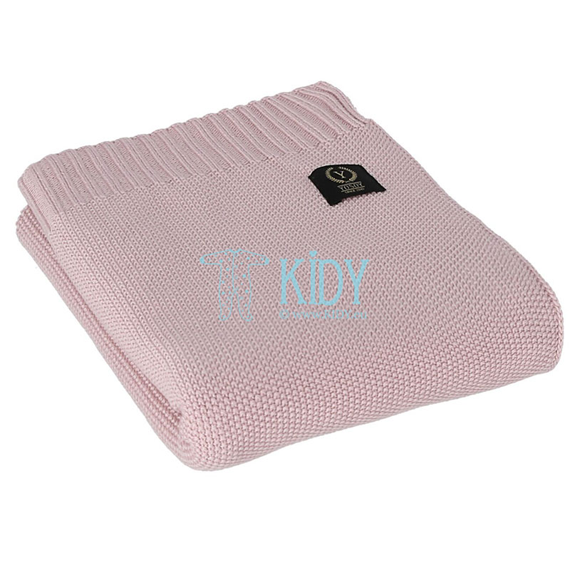 Pink knitted bamboo RICE plaid