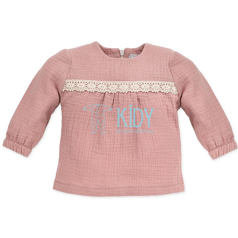 Rožini muslino marškinėliai PETIT LOU