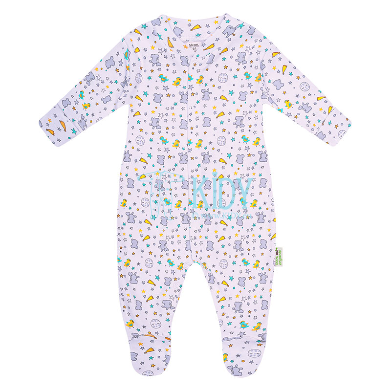 Grey ORGANIC footed sleepsuit