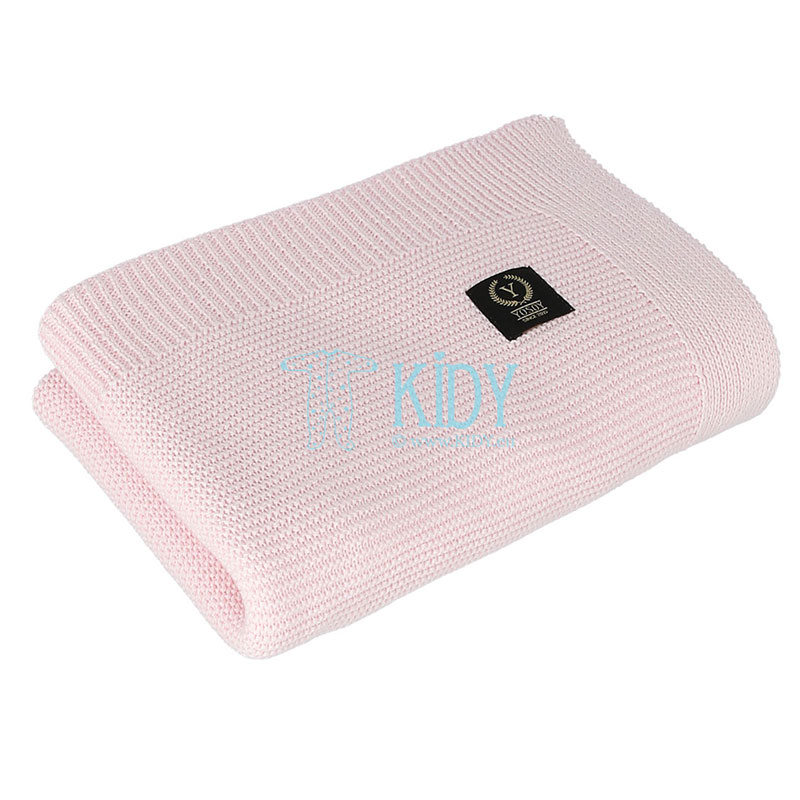 Pink FRENCH knitted plaid