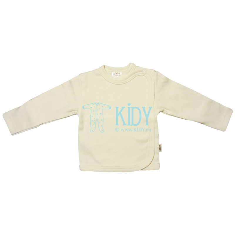 Creamy DODO easy-shirt with mitts