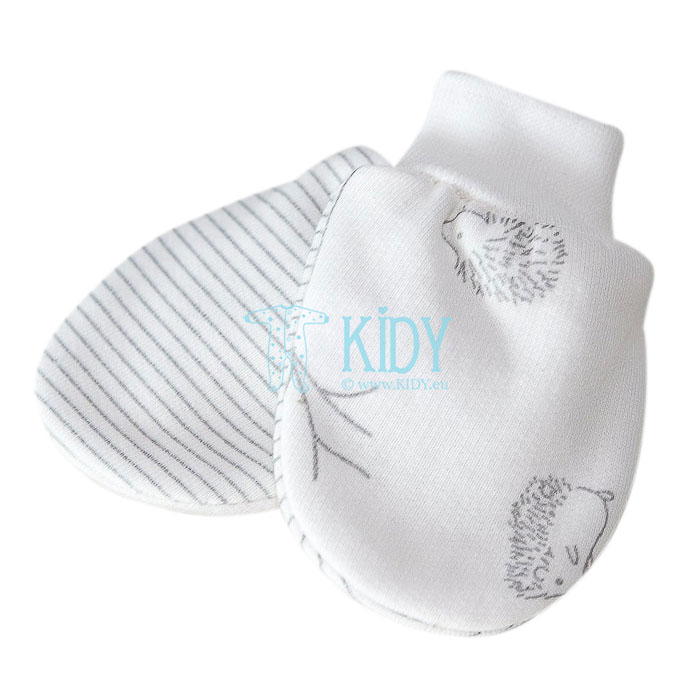 White warm NIKO anti-scratch mittens