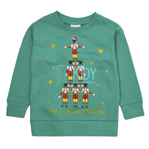 Green CRACKING CHRISTMAS sweatshirt