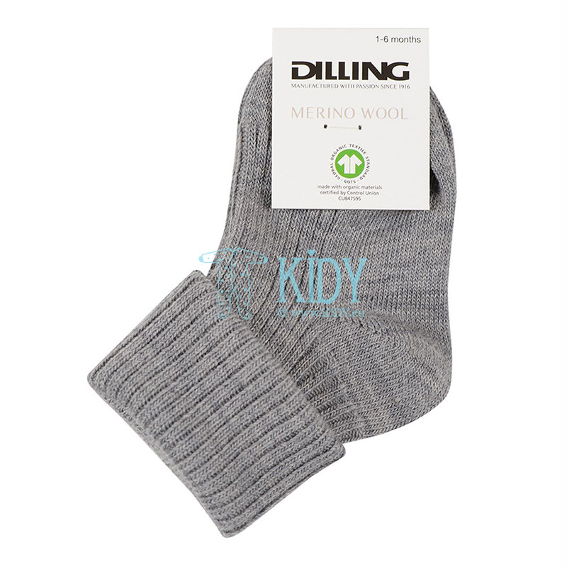 HEATHER GREY merino wool socks