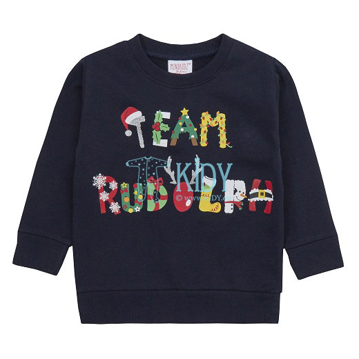 Navy TEAM RUDOLPH sweatshirt