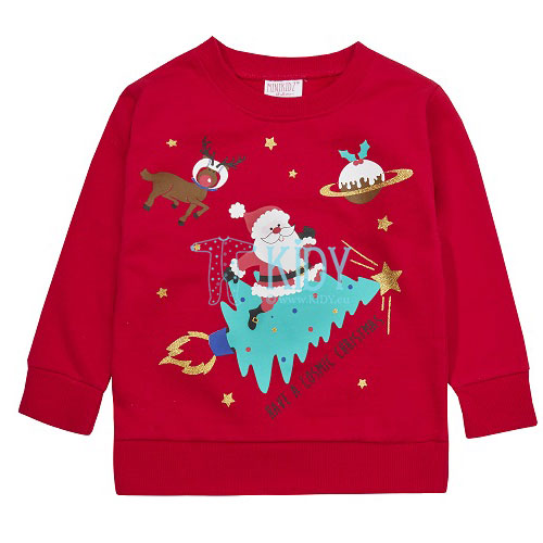 Red COSMIC CHRISTMAS sweatshirt