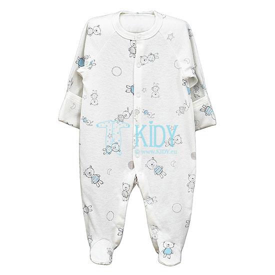 Baltas kombinezonas-pižama BEAR & BUNNY