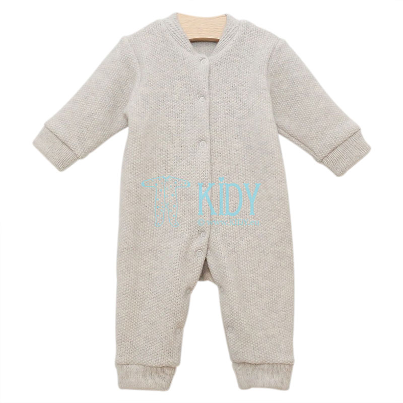 Grey merino wool overall