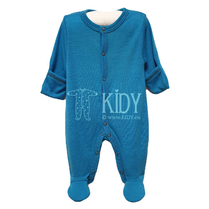 Blue merino wool MERINO sleepsuit