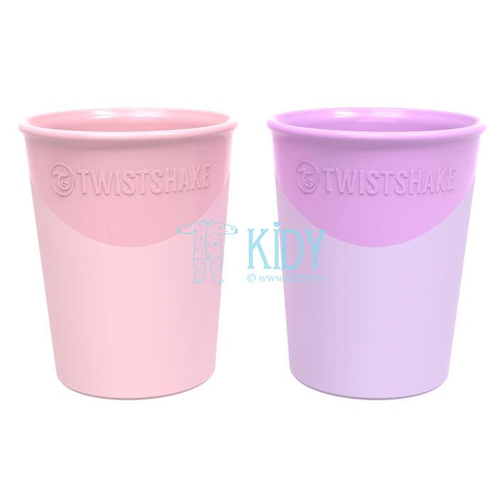 2 plastikinės stiklinės PASTEL PINK PURPLE
