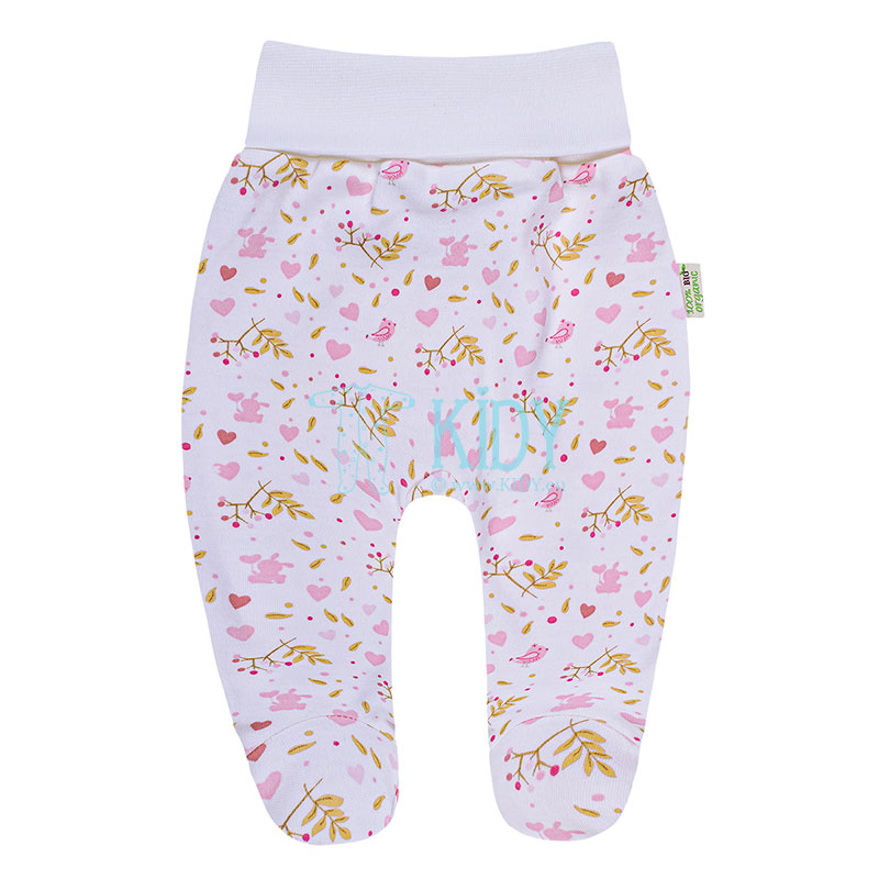 Pink ORGANIC footed pants