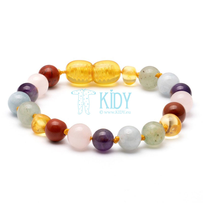Amber GEMSTONE teething bracelet