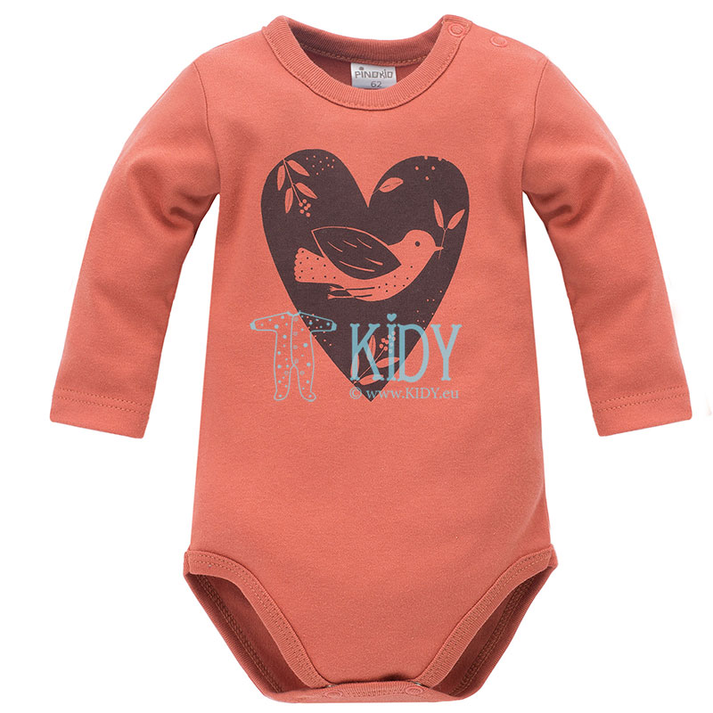Red Little Bird bodysuit