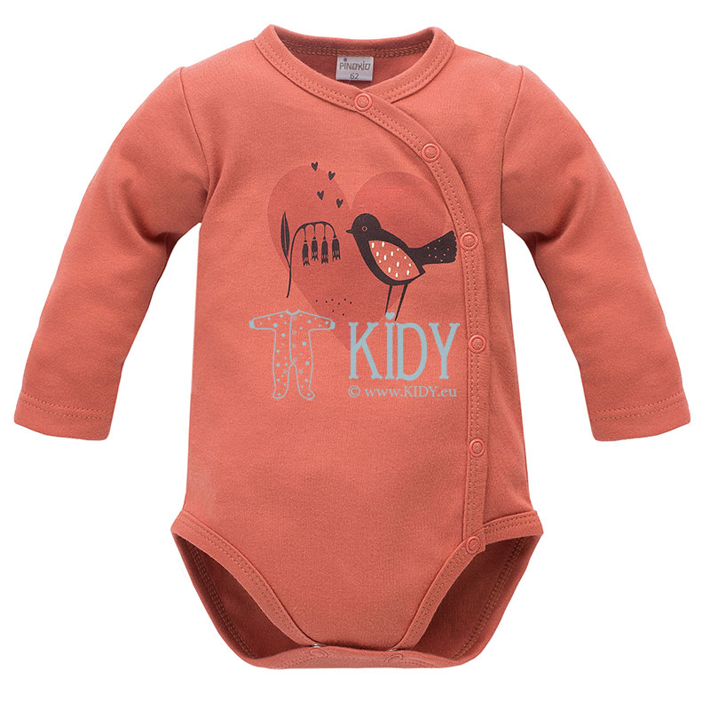 Red Little Bird wrap bodysuit