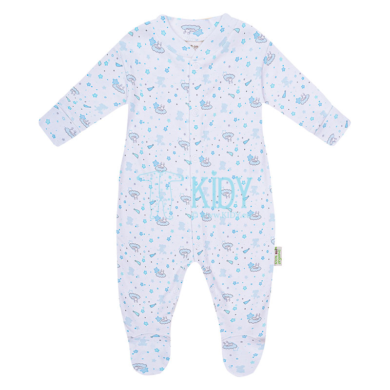 Blue ORGANIC footed sleepsuit