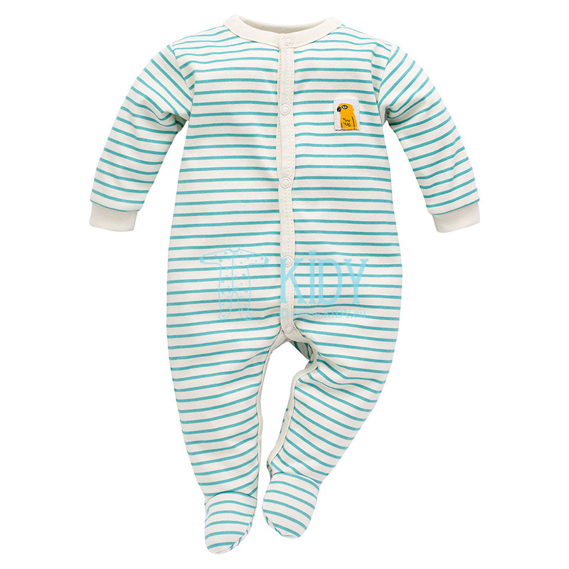 Striped Nice Day sleepsuit
