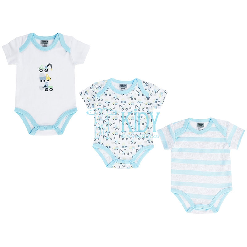 3pcs shortsleeved MACHINERY bodysuit pack
