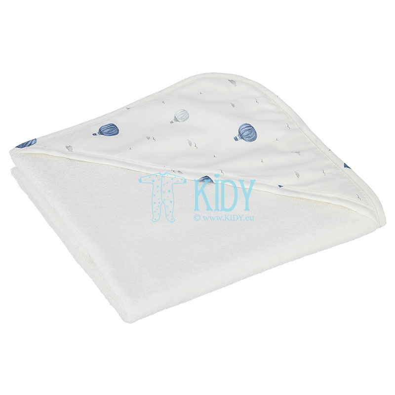 White Balloons hooded towel