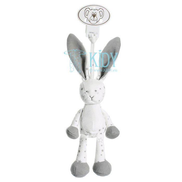 Soft Diinglisar Organic bunny with clip for hanging
