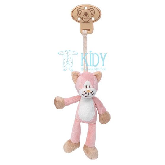 Rožinis kačiukas Diinglisar Katt su spaustuku pakabinimui