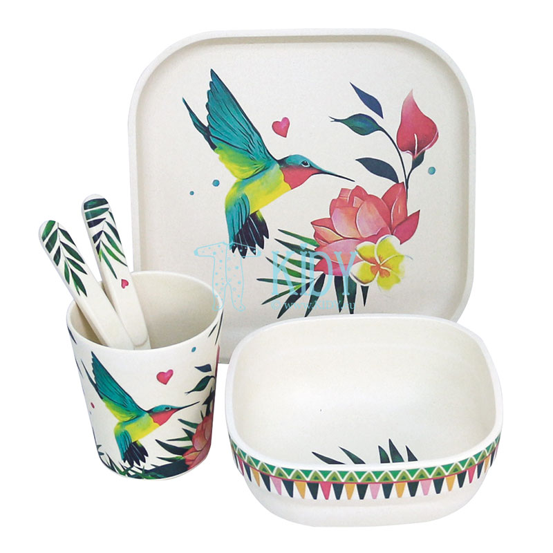 5pcs bamboo Airy Grace set of dishes